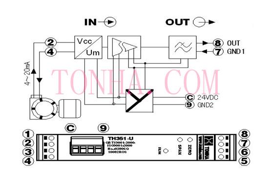 双路信号隔离变换器/直流信号隔离分配器/变送器