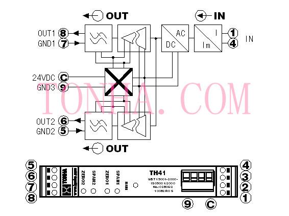 交流电流信号隔离分配器